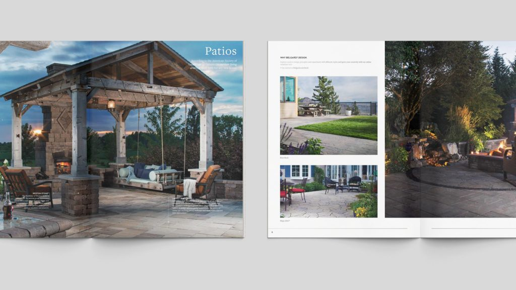 building materials brochure, idea book, graphic design, page layout, outdoor living marketing, building materials marketing, marketing materials, sales tools, construction leads, building materials leads